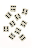 Rolled dice on six Stock Photography