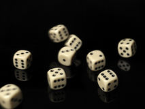 Rolled dices Stock Photo