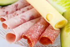 Different cold cuts Royalty Free Stock Image