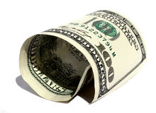 Rolled Dollar Royalty Free Stock Image