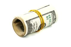 Rolled dollars Stock Images