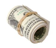Rolled dollars Royalty Free Stock Photography