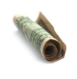 Rolled doller Royalty Free Stock Image