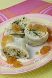 Rolled dumplings Royalty Free Stock Photos