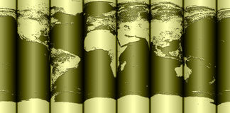 Rolled Earth map stock photos