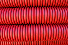 Rolled electrical conduit Royalty Free Stock Image