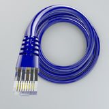 Rolled ethernet cable, internet connection, bandwidth, broadband Royalty Free Stock Images