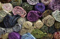 Rolled fabrics Stock Image