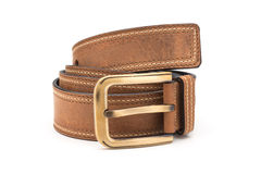 Rolled Faux Leather Belt Stock Image