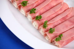 Rolled filled ham Stock Photography