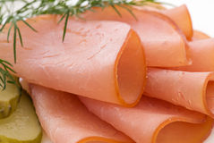 Rolled Fillet of Ham Stock Photography