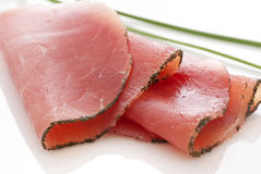 Rolled Fillet of Ham Royalty Free Stock Images