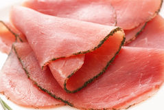Rolled Fillet of Ham Stock Images