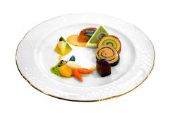 Rolled fish with vegetables Royalty Free Stock Photo