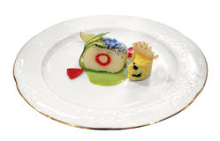 Rolled fish with vegetables Royalty Free Stock Image