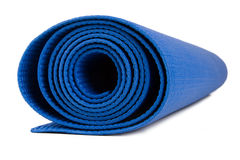 Rolled Fitness Mat for Exercise Royalty Free Stock Photo