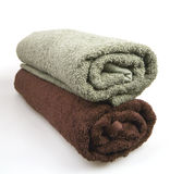 Rolled fluffy towels Royalty Free Stock Photos