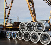 Rolled galvanized steel Royalty Free Stock Photography
