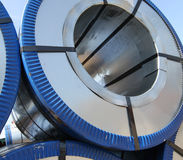 Rolled galvanized steel with polymer coating Stock Photography
