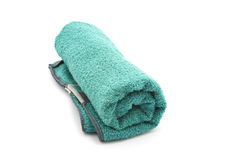 Rolled Green Towel Royalty Free Stock Image