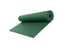 Rolled Green Yoga Mat Royalty Free Stock Photos