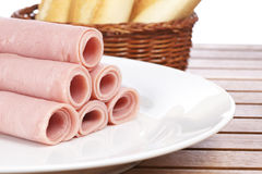 Rolled ham Stock Photography