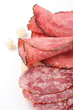 Rolled ham and salami Royalty Free Stock Image