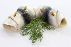 Rolled herring Royalty Free Stock Photography