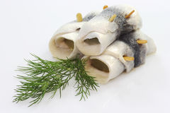 Rolled herring Stock Photography