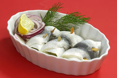 Rolled herring Stock Photo
