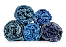 Rolled jeans Stock Photography