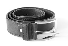 Rolled leather belt Stock Photography