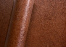 Rolled leather surface Stock Photography