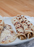 Rolled lefse - close up Stock Images