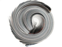 Rolled magazine. Close-up of a rolled mmagazine Royalty Free Stock Images