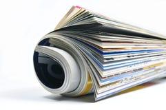Rolled Magazine Stock Photo