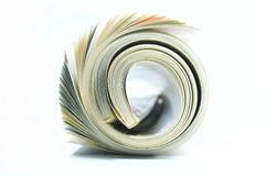 Rolled Magazine Stock Image