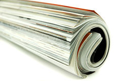 Rolled Magazines Stock Photography