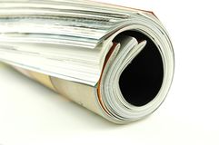 Rolled Magazines Royalty Free Stock Images