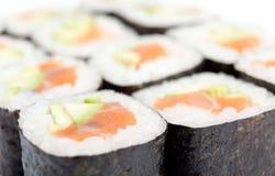 Rolled maki sushi Stock Image