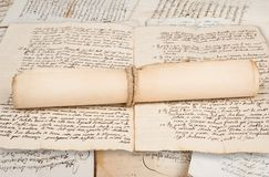 Rolled manuscripts Royalty Free Stock Image