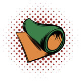 Rolled mat comics icon Royalty Free Stock Image