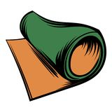 Rolled mat icon cartoon Stock Image