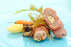Rolled meat Stock Photo