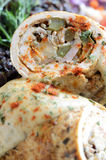 Rolled meat close up Stock Images