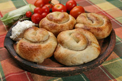 Rolled  meat pies Stock Images