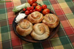 Rolled  meat pies Stock Photo