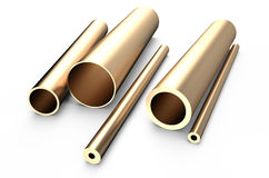 Rolled metal, bronze tube Royalty Free Stock Photo