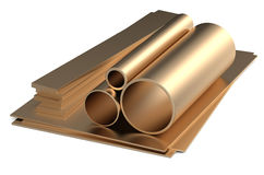 Rolled metal, bronze Royalty Free Stock Photography