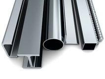 Rolled metal Stock Photography